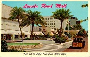 Florida Miami Beach The Lincoln Road Mall Tram Car