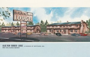 ALAS/KON Border Lodge, Yukon Territory, Canada , 1950-60s ; Mile 1202 Alaska ...