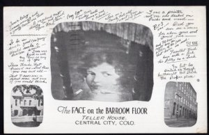 Colorado CENTRAL CITY The Face on the Bar-Room Floor Bar of Teller House pm1954C
