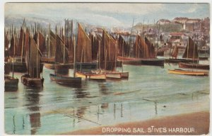 Cornwall; Dropping Sail, St Ives PPC By Hildesheimer, To Miss Kemsbury, Highgate