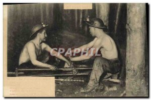 Postcard Old Mine Mines In Black Country Drilling hand