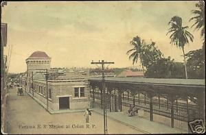 panama, COLON, Railway Station (ca. 1910)
