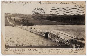 1905 RPPC Dexter ME Stone Bridge Silver Lake Milk Farm RARE REAL PHOTO Postcard