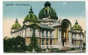 Casa de Depuneri CEC Palace Bank Bucharest Romania 1910c postcard