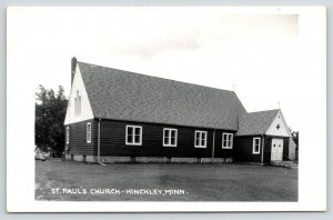 Hinckley Minnesota~St Paul's Lutheran Church Before Additions, Belfry~1950s RPPC