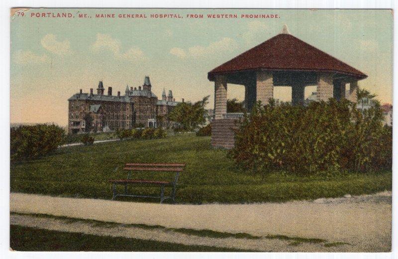 Portland, Me, Maine General Hospital, From Western Promenade