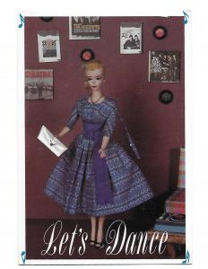 Let's Dance Mattel 1960 Nostalgic Official Barbie Doll Card  4 by 6