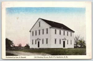 Sandown New Hampshire~Old Meeting House~Built 1774~Geo.S.Bassett Pub Co~1920s