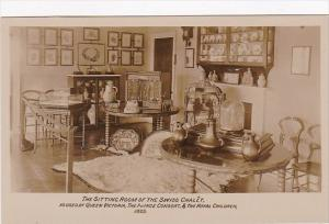 England Isle Of Wight The Sitting Room Interior Swiss Chalet At Osborne House...