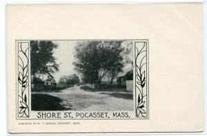 Shore Street Pocasset Massachusetts 1907c postcard