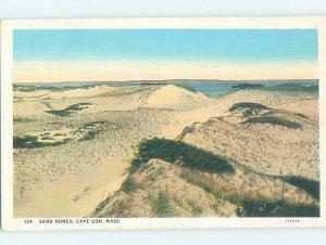 W-border SAND DUNES SCENE Cape Cod Massachusetts MA AD4607