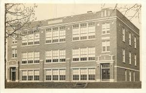 High School~Real Photo Postcard~Typical 1920s Archtecture