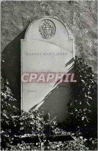 Postcard Modern Rilkes Grab in der Kirche zu Raron