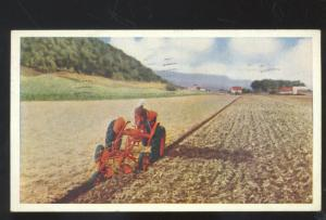ALLIS CHALMERS VINTAGE ADVERTISING POSTCARD TRACTOR FARMING SEDALIA MISSOURI