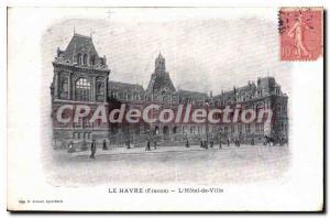 Old Postcard Le Havre Hotel De Ville