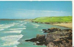 Cornwall Postcard - Rollers at Perranporth - Ref TZ1024