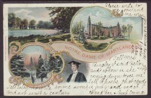 Notre Dame of Maryland,Aus Gruss Postcard