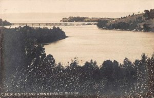 Annapolis Basin Nova Scotia Canada Birds Eye View Real Photo Postcard AA13521