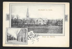 Gruss Aus Gehrde Germany South View Marketplace Unused c1905