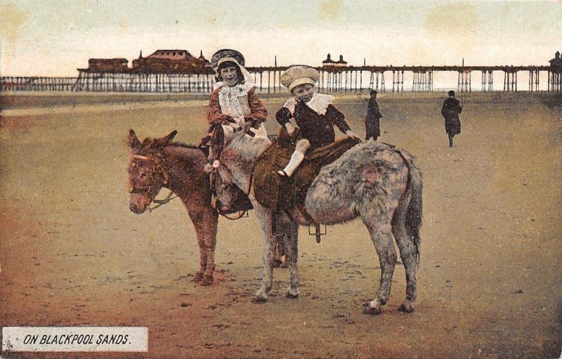Dartmout/Devon UK Blackpool Sands~Pier~Restaurant~Kids Ride on Donkeys 1920s