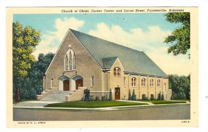 Church of Christ, Corner Center and Locust Street, Fayetteville, Arkansas, 00...