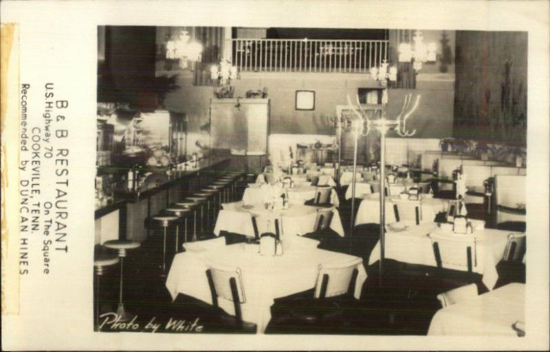 Cookeville Tn Bb Restaurant Hwy 70 Real Photo Postcard Hippostcard