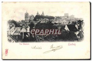 Old Postcard Loches Vue Generale