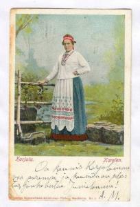 Woman , Karjala, Karelen , Sweden, PU-1907