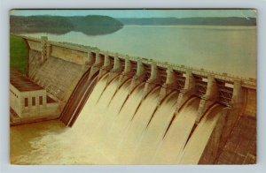 Jamestown KY- Kentucky, Wolf Creek Dam, Lake Cumberland, Chrome c1972 Postcard