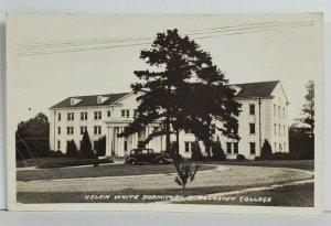 Jackson Mississippi Helen White Dormitory Belhaven College RPPC Postcard P5