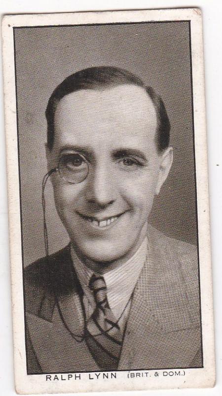 Cigarette Card Churchman BRITISH FILM STARS No 19 Ralph Lynn