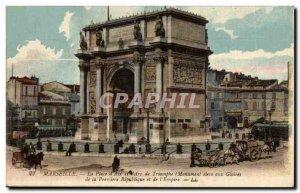Marseille - La Porte d & # 39Aix - Old Postcard