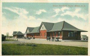 Minot North Dakota 1920s Railroad Northern Postcard Solien Octochrome 21-7151