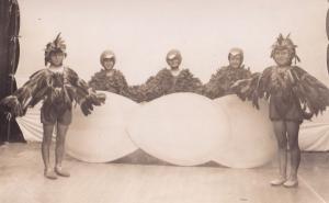 Norfolk Theatre Play Children as Birds Hatching Fancy Dress RPC Old Postcard