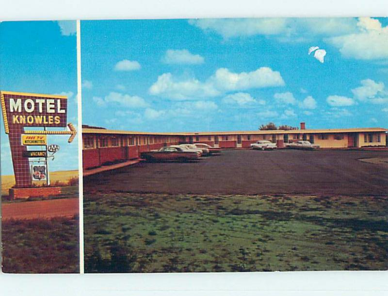 Unused Pre-1980 KNOWLES MOTEL Moose Jaw Saskatchewan SK o0361-12