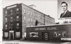 South Dakota Canistota Ortman Clinic & Hotel Ortman & Cafe Real Photo sk4586