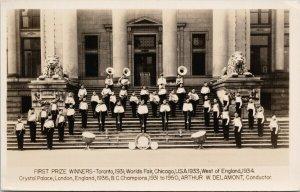 Vancouver Kitsilano Boys Band 1930s Winners Gowen Sutton RPPC Postcard F48