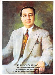 Philippines Old Vintage Antique Post Card Elpidio Quirino Second President of...