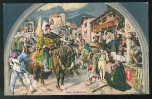 Switzerland Tells Apfelschuss Mura; Stuckelberg Tellskapelle  E. Goetz Postcard