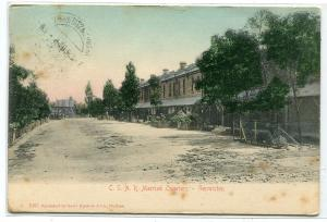 CSAR Railways Married Quarters Germiston South Africa 1908 postcard