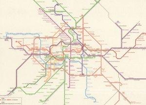 Berlin Germany Train Subway Map Underground Postcard