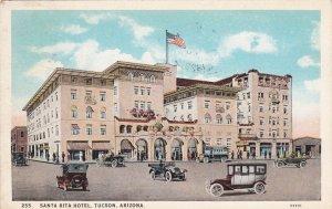 Arizona Tucson Santa Rita Hotel 1929 Curteich sk6693