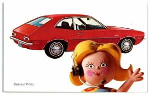 1972 Red Ford Pinto Advertising Postcard