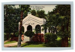 Woman's Club, Fort Lauderdale FL c1940 Linen Postcard M19