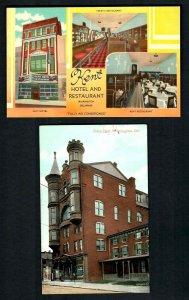 C57 Wilmington,2 pcs.Vintage Eden Hall Billard sign, Kent hotel Multi view Linen