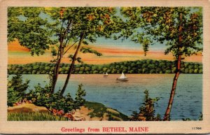 Maine Greetings From Bethel 1946