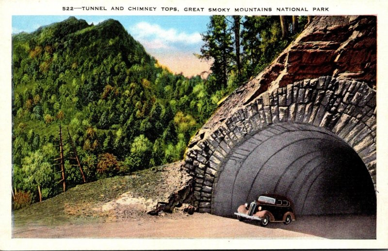 Tennesse Smoky Mountains National Park Tunnel and Chimney Tops