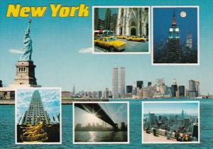 New York City Greetings With World Trade Center & More