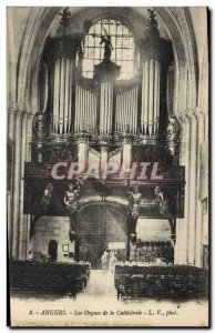 Old Postcard Angers Organ The organ of the cathedral