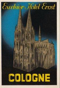Germany Cologne Koeln Excelsior Hotel Ernst Vintage Luggage Label lbl0417